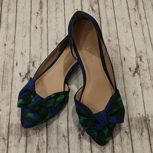 Kelly & Katie Blue/Green Floral Flats